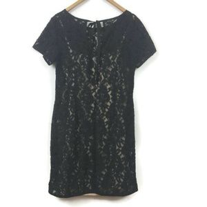 Ann Taylor Loft Women's Dress Size 6 Black Lace